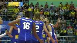 1º set: Brasil diminui com uma bola de china de Carol Gattaz. 5 x 7