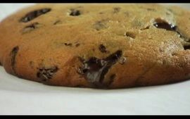 Receita de cookie de chocolate e crispy de banana