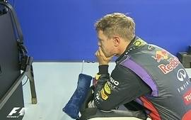 Vettel faz cara de &#x27;poucos amigos&#x27;, aps terceiro lugar no treino do GP de Espanha