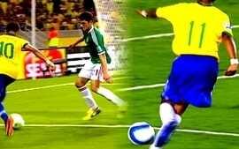 Drible de Neymar, contra México, lembra lance de Robinho sobre zagueiro do Equador