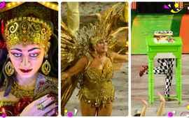 Veja trechos do desfile da Grande Rio no carnaval do Rio de Janeiro