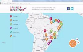 Navegue pelo Mapa da Esperança e conheça os projetos que serão apoiados em 2016