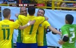 Os gols de Brasil 6 x 1 Uruguai pelo amistoso internacional de futsal