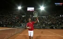 Momentos marcantes da vitória de Djokovic contra Bellucci, pelo Master 1000 de Roma