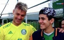 Palmeiras recebe visita de torcedor com história emocionante