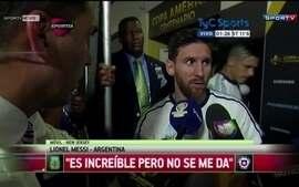 """Messi diz que encerra sua participação com a seleção argentina: """"Isso não é pra mim"""""""