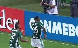Gol salvador aos 50 minutos garante vitória do Palmeiras na Libertadores