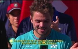 Wawrinka deixa escapar palavrão após derrota para Federer