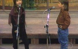 Som Brasil: Primeira apresentação de Sandy e Junior (1989)