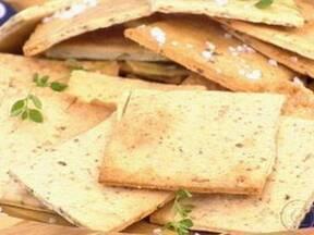 Cream Cracker Com Parmesão - Foto de Mais Você na TV