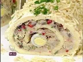 Rocambole de Festa com Recheio de Bacalhau - Foto de Mais Você na TV