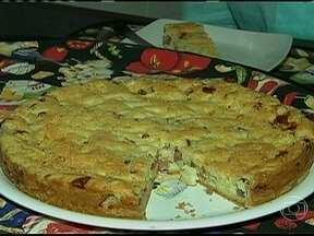 Torta de alho poró com calabresa - Foto de Globo Rural