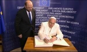 Papa Francisco visita Parlamento europeu