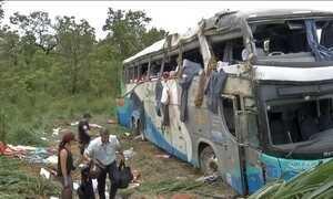 PRF investiga acidente com um ônibus em Mato Grosso que matou 11 pessoas