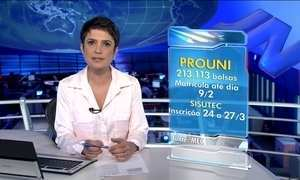 Prazo para matrículas de bolsas  do Prouni termina na segunda (9)