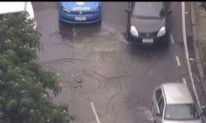 Globocop flagra vazamento de água pelo terceiro dia seguido no Rio