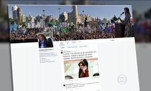 Cristina Kirchner gera polêmica nas redes sociais com