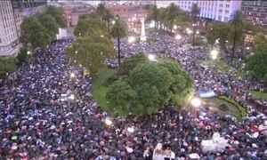 Argentina: governo e oposição trocam acusações após marcha