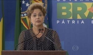Dilma defende liberdade de imprensa durante a posse de novo ministro