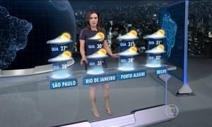 Terça-feira (14) será de chuva em várias partes do Brasil