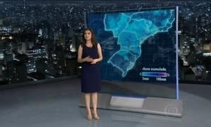 Previsão é de chuva em várias partes do Brasil no domingo (18)