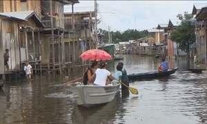 Rio Solimões está perto de atingir o maior nível da história