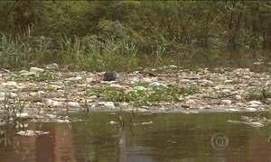 Grande quantidade de lixo é retirada todos os dias do Rio Negro
