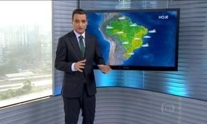 Boa parte do país pode ter chuva fraca nesta quinta-feira (21)