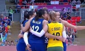 Seleção feminina de vôlei derrota a Sérvia no Grand Prix