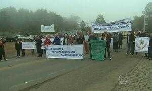 Servidores estaduais continuam com protestos