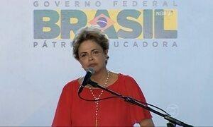 """Ninguém vai tirar a legitimidade que o voto me deu"", diz Dilma Rousseff"