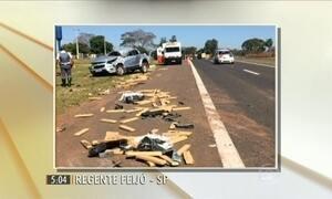 No interior de SP, motorista morre ao capotar carro carregado com maconha
