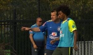 Seleção Brasileira faz seu primeiro treino para amistoso para a Costa Rica