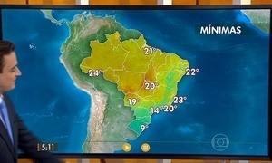 Confira como fica o tempo nesta sexta-feira (11) em todo o Brasil