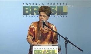 Dilma diz que abreviar rotatividade democrática de poder é golpe