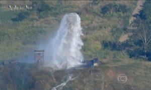 Globocop flagra desperdício de água em quartel da Marinha no Rio de Janeiro
