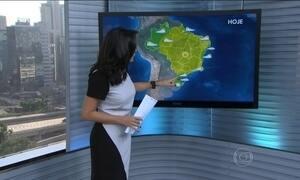 Região Sul tem alerta de chuva forte e até queda de granizo
