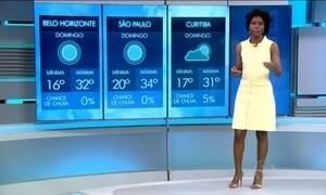 Sol vai continuar brilhando em grande parte do Brasil no domingo (20)