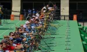Medalhista Khatuna Lorig vai ao evento-teste de arco e flecha no Rio