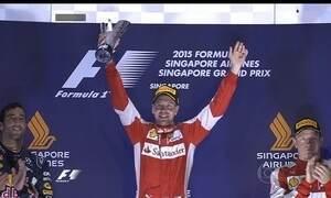 Vettel vence e se torna terceiro com mais vitórias na história da Fórmula 1