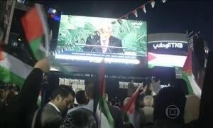 Milhares de pessoas celebram a participação da Palestina na ONU