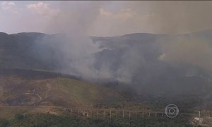 Incêndio no Parque Estadual da Serra do Rola Moça (MG) já dura quatro dias