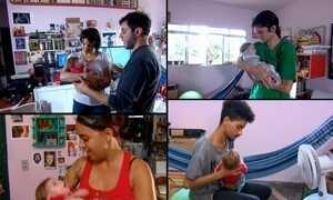 Voluntários fazem rodízio para ninar bebê que só se acalma com balanço
