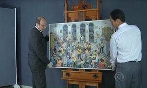 Peritos avaliam obras de arte apreendidas na Operação Lava Jato