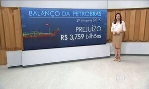 Petrobras tem prejuízo de R$ 3,759 bilhões no terceiro trimestre