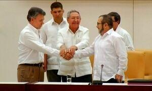 Governo da Colômbia faz acordo histórico com as Farc