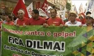 Manifestantes vão às ruas em apoio a Dilma em todo o país