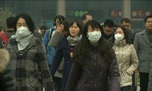 Crianças são orientadas a ficar em casa na China por causa do nível de poluição
