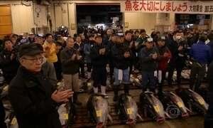 Japoneses participam do primeiro leilão de atum do ano