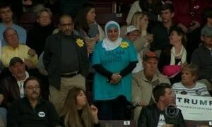 Muçulmana é expulsa de comício de Donald Trump